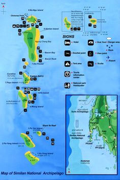 similan islands map