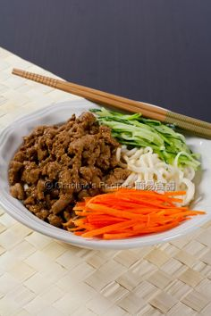 Shanghai 'Zha Jiang' Noodles (炸醬麵)from Christine's Recipes