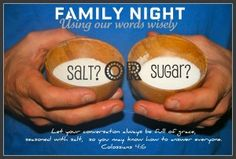 Using Words Wisely:  Family NIght Lesson