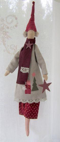 Weihnachtsdeko - Weihnachts- Wichtel im Landhausstil - ein Designerstück von Feinerlei bei DaWanda