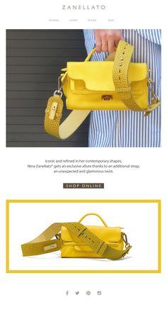 NINA ZANELLATO | The perfect match! Acquista ora sulla Boutique digitale la nuova Tracolla Zanellato #Straps #tracolla