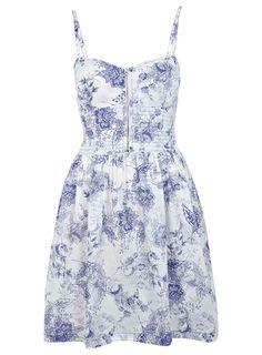 Miss Selfridge Zip Up Printed Sun Dress