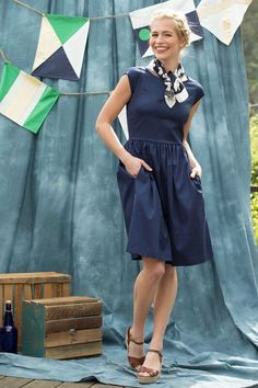 Nixie Dress Blue