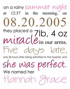 This is a cute idea for putting in the kiddos rooms or title page for baby book.