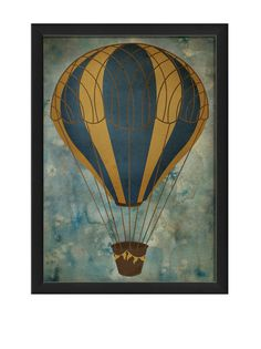 The Artwork Factory Hot Air Balloon 6 Print at MYHABIT