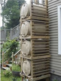 Recolector de agua de lluvia. Rain barrel genius