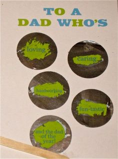 DIY Father's Day Scratch Off Card with Free Printable ♥