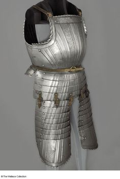 Cuirass Imitator of Daniel Hopfer (1470 - 1536)	, Etcher Imitator of Daniel Hopfer (1470 - 1536), Etcher Germany 1523 Steel, fluted and etched Weight: 3.37 kg, breastplate Weight: 0.99 kg, left tasset Weight: 0.97 kg, right tasset Weight: 2.36 kg, backplate A210 European Armoury I