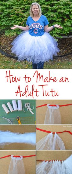 Directions for Making an Adult Tutu #tutu #DIY