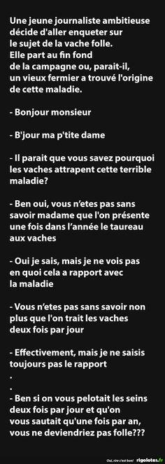 Une jeune journaliste ambitieuse décide d'aller enqueter... - RIGOLOTES.fr