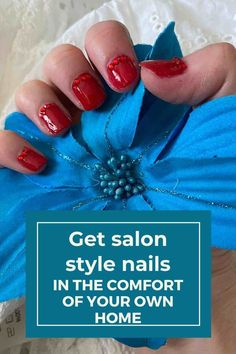 You might not be able to goto the salon at the moment,  but you can still get perfect salon style nails at home. My three step tutorial will give you all the details you need for gorgeous glossy red sparkling nails. Even when the salons do open again, you can still use these tips to get great looking nails if you're short on funds.