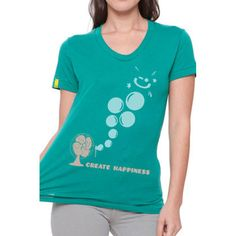Create Tee Women's Evergreen  by Delivering Happiness