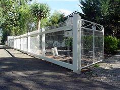 Browse photos from Heritage Fencing Picket Fence Garden, White Picket Fence, Farm Fence, Garden Gates, California Front Yard Landscaping Ideas, Fence Landscaping, Backyard Fences, Dog Proof Fence, Garden Structures