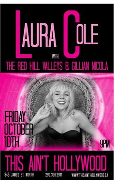 LAURA COLE BAND with THE RED HILL VALLEYS & GILLIAN NICOLA Oct 10 @thesainttweets   GunnerSmith.ca Ladies Night, Special Guest, Hollywood, Band, Movie Posters, Girl Night, Bands, Orchestra, Film Posters