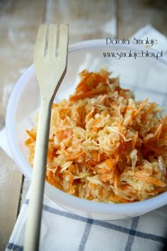 Sauerkraut, apple, and carrot salad