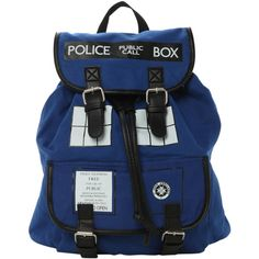 Doctor Who TARDIS Slouch Backpack | Hot Topic ($15) ❤ liked on Polyvore featuring bags, backpacks, doctor who, accessories, slouch backpack, backpacks bags, snap bags, slouch bag and blue backpack