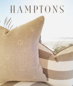 Hamptons Collection Anchors Aweigh Pillow - New Arrivals
