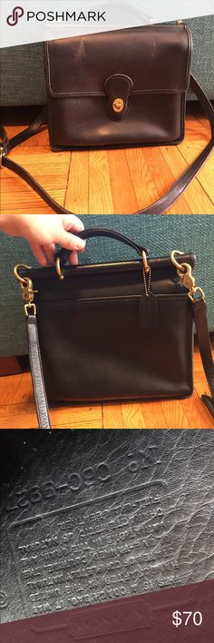 Vintage COACH Willis bag This is an authentic vintage Coach Willis Bag. It's in vet good condition for a vintage piece. Beautiful leather, raw suede interior. Detachable strap. Coach Bags Satchels