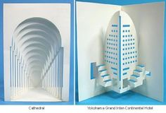 Sometimes, architecture isn't built - it's cut out in little folding pieces of paper. Next time you send me a greeting card, make it one of these! Check these out and more here and the artist's ot...
