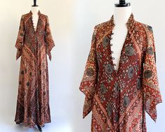 70s Sultana Adini Bullocks Wilshire Cotton Gauze Metallic Caftan Kaftan India Indian Gypsy Maxi Dress . One Size . L001 on Etsy, Sold