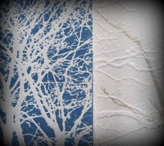 Jo Horswill - etched and embossed trees....