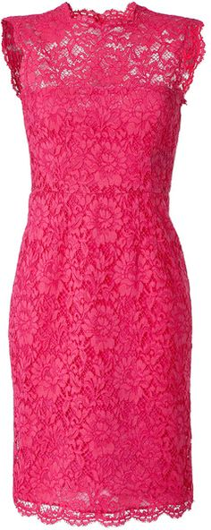 Valentino Hot Pink Lace Dress - Lyst