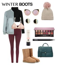 """We're out here."" by maggiethequeen on Polyvore featuring UGG Australia, Valentino, Topshop, Yasmine eslami, Burberry, Jocelyn, Erica Weiner, Anastasia Beverly Hills, NARS Cosmetics and MAC Cosmetics"