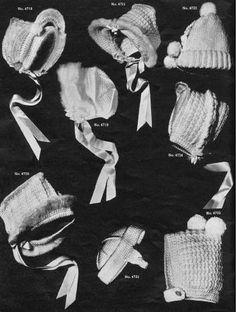 more vintage  crochet baby hat patterns