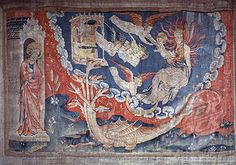 Apocalypse of Angers. Nicolas Bataille (ca.1363-1400 French) Museum of Tapestries, Angers, France.