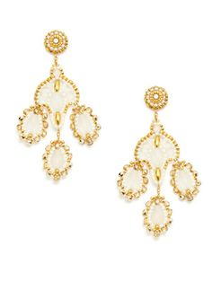 Miguel Ases- gold bead chandelier earrings