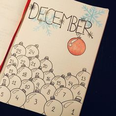 "70 Likes, 3 Comments - Maud (@maud_maes) on Instagram: ""The first december page in my bullet journal, the countdown to Christmas! . . . #bulletjournal…"""