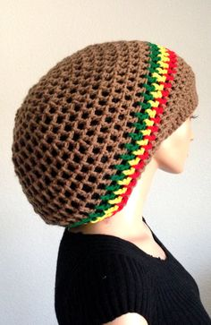 Summer Crochet Dreadlocks Rasta Tam  Men s Handmade by Africancrab b8efb1d9a44