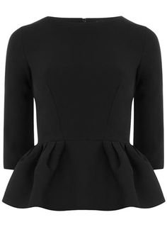 Black 3/4 sleeve peplum top + it's black + it's long sleeve + it's only $44!?? Yep, I'll have some :)