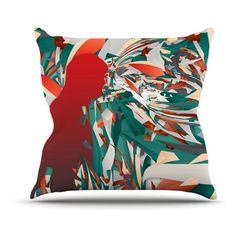Kess InHouse Danny Ivan Soccer Headshot Indoor/Outdoor Throw Pillow - DI1063AOP02