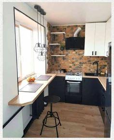 Kitchen Cabinet Design, Interior Design Kitchen, Home Decor Kitchen, Kitchen Furniture, Kitchen Ideas, Modern Farmhouse Kitchens, Home Kitchens, Home Entrance Decor, Appartement Design