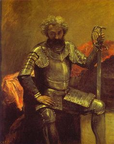 Jean Baptiste Camille Corot (1796-1875) - 1868-70 Man in Armor (Musee d'Orsay)