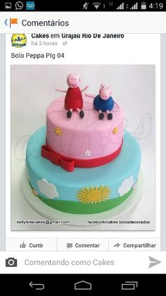 Cake Peppa Pig Mais um bolo do desenho mais querido das criancas.