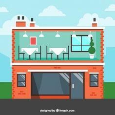 restaurant flat design - Pesquisa Google