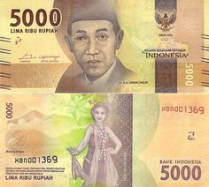 World Bank Notes & Coins : 5000 Indonesian Rupiah .