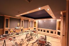 Media home theater riser diy i would add running lights under each 5 common mistakes that can give you big problem in creating a home theater room solutioingenieria Images