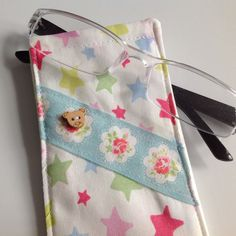 Cath Kidston Pastel Stars Fabric Glasses Case by sewmoira on Etsy