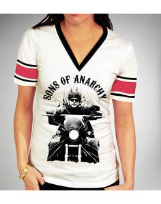 Sons of Anarchy Jax Hockey V-neck Junior Fitted Tee