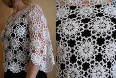 blusa bonito crochet. Como a tricotar