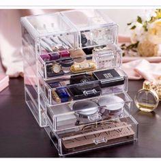 Large Jewelry Box 5 Drawers Acrylic Cosmetic Organizer Glossy Makeup