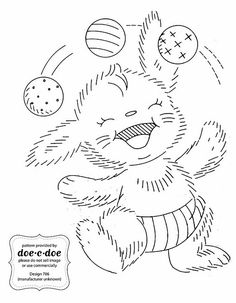 Mailorder 85 - fuzzy rabbit | Gardens, Patterns and Inspiration : hand embroidery patterns for baby quilts - Adamdwight.com