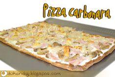 Dukan Day: Pizza Carbonara Empanada, Cooking Recipes, Healthy Recipes, Healthy Food, Hawaiian Pizza, Paleo Diet, I Foods, Pasta, Bread
