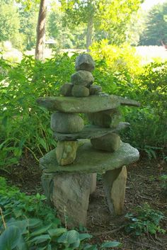 """by Bringing A Soulful Consciousness To Gardening, Sacred Space Can Be Created Outdoors."" - S.kelley Harrell, Nature's Gifts Anthology (photo: Jill Nooney Creates Sacred Space In The Garden With Her Wonderful Rock Stacks)"