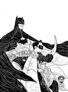 Batman & Robin:  by Geoff Darrow