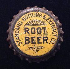 STANDARD ROOT BEER soda bottle cap solid cork unused