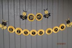 it's my birthday bumble beethemed banner by paperwalldecorations